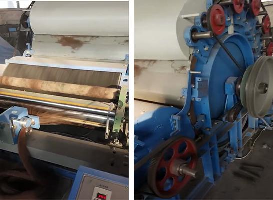 羊毛梳理机工作过程展示