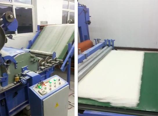 棉被生产线展示